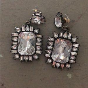 Rhinestone Baublebar earrings // worn twice